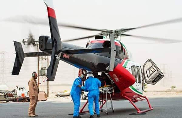 Le Bell 429 présentant ses portes à double coque