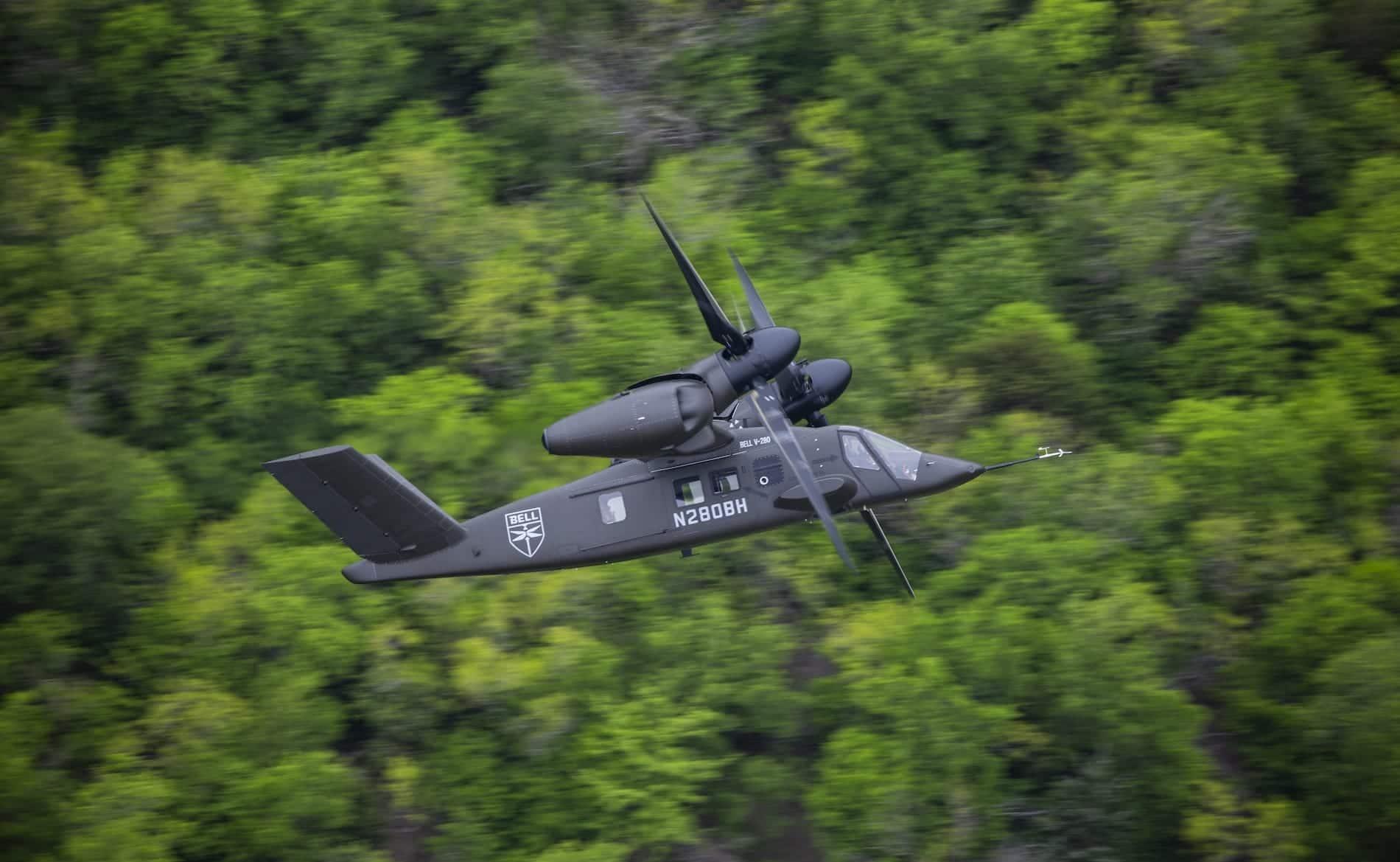 Vol air-air du Bell V-280 du 15 avril 41