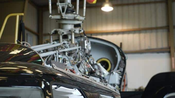 Hangar d'entretien d'appareil Bell