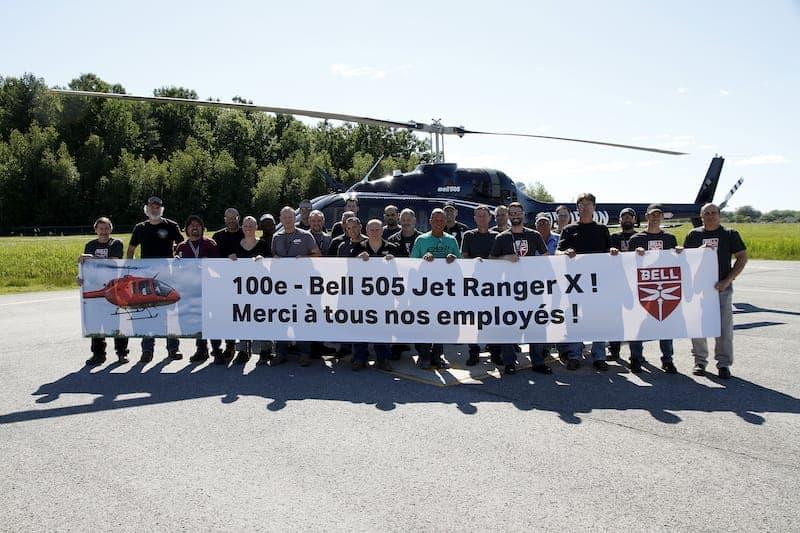 Cérémonie de livraison du 100e Bell 505